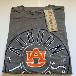 NCAA Auburn Tigers Shirt Heather Gray Circle